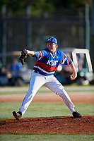 Jordan Fox during the WWBA World Championship at the Roger Dean Complex on October 20, 2018 in Jupiter, Florida.  Jordan Fox is a left handed pitcher from Georgetown, Kentucky who attends Scott County High School and is committed to Eastern Kentucky.  (Mike Janes/Four Seam Images)