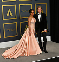 LOS ANGELES, USA. February 09, 2020: Brad Pitt & Regina King at the 92nd Academy Awards at the Dolby Theatre.<br /> Picture: Paul Smith/Featureflash