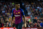 Ousmane Dembele of FC Barcelona in action during the La Liga match between Barcelona and Real Sociedad at Camp Nou on May 20, 2018 in Barcelona, Spain. Photo by Vicens Gimenez / Power Sport Images