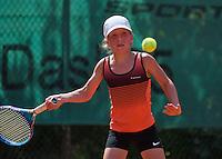 Netherlands, Dordrecht, August 03, 2015, Tennis,  National Junior Championships, NJK, TV Dash 35, Isis van den Broek<br /> Photo: Tennisimages/Henk Koster