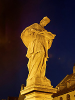 Br&uuml;ckenfigur auf der Michalska, Bratislava, Bratislavsky kraj, Slowakei, Europa<br /> statue on bridge at Michalska, Bratislava, Bratislavsky kraj, Slovakia, Europe