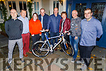 The Fitzgerald family who donated the bike in memory of the late Nicky Fitzgerald to the Chain Gang for their Comfort for Chemo fundraiser, in the Meadowlands Hotel on Friday night.<br /> L to r: John Curneen, John Murray, John, Ciara, Mary and DJ Fitzgerald, Aidan and John Hobbert.