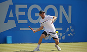 June 18th 2017, Nottingham, England; ATP Aegon Nottingham Open Tennis Tournament day 7 finals day;  Dudi Sela of Israel, winner of the mens singles over Thomas Fabbiano of Italy