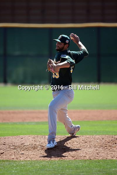 Kevin Johnson - Oakland Athletics 2016 spring training (Bill Mitchell)