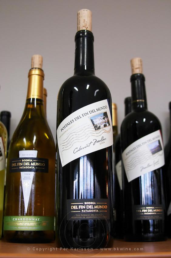 Bottle of Postal (post car) del fin del Mundo cabernet Malbec Bodega Del Fin Del Mundo - The End of the World - Neuquen, Patagonia, Argentina, South America