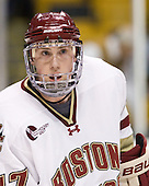 Patch Alber (BC - 27) - The Boston College Eagles defeated the Northeastern University Huskies 5-4 in their Hockey East Semi-Final on Friday, March 18, 2011, at TD Garden in Boston, Massachusetts.