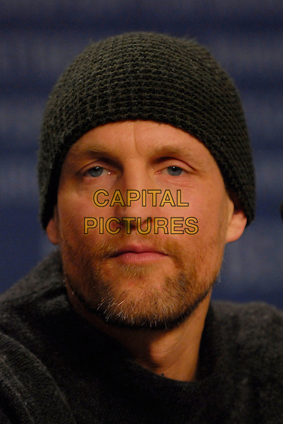 "WOODY HARRELSON.Photocall for ""A Prairie Home Companion"" at the 56th Berlin (Berlinale) Film Festival, Berlin, Germany..February 12th, 2006.Ref: KRA.headshot portrait black hat beanie beard facial hair.www.capitalpictures.com.sales@capitalpictures.com.©Capital Pictures"
