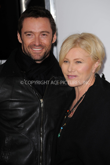 WWW.ACEPIXS.COM . . . . . ....January 28 2010, New York City....Hugh Jackman and wife Deborra Lee Furness arriving at the 'From Paris With Love' premiere at the Ziegfeld Theatre on January 28, 2010 in New York City. ....Please byline: KRISTIN CALLAHAN - ACEPIXS.COM.. . . . . . ..Ace Pictures, Inc:  ..(212) 243-8787 or (646) 679 0430..e-mail: picturedesk@acepixs.com..web: http://www.acepixs.com