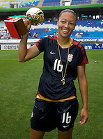 Angela Hucles. The USWNT defeated Canada, 1-0, at Suwon World Cup Stadium in Suwon, South Korea, to win the Peace Queen Cup.