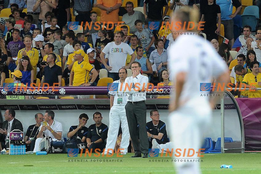 Laurent Blanc et Jean Louis Gasset (France). .Kiev 19/6/2012 .Calcio Football Euro 2012.Francia Vs Svezia.Foto Insidefoto / Panoramic.Italy ONLY