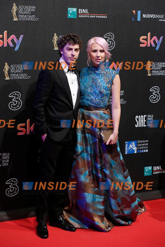 Michele Riondino e Eva Nestori <br /> Roma 27-03-2017. Premio David di Donatello 2017.<br /> Rome March 27th 2017. David di Donatello ceremony 2017. <br /> Foto Samantha Zucchi Insidefoto