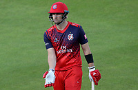 Liam Livingstone of Lancashire leaves the field having been bowled during Lancashire Lightning vs Essex Eagles, Vitality Blast T20 Cricket at the Emirates Riverside on 4th September 2019