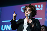 """Act of beginning of the campaign """"Unidas Podemos"""" in Madrid. The spokesman of this party in Congress, Irene Montero, and the federal coordinator of IU, Alberto Garzón, intervene in it.<br /> October 31, 2019. <br /> (ALTERPHOTOS/David Jar)"""