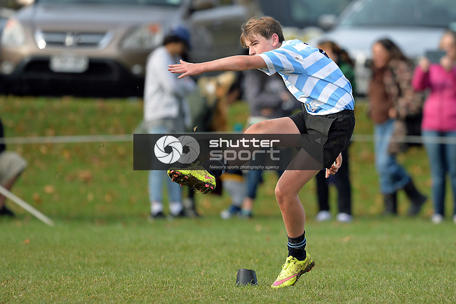 NELSON, NEW ZEALAND - MAY 23: U14 Rugby Nelson College vs Waimea College at Broads on May 23 2015, Nelson, New Zealand. (Photo by Barry Whitnall/Shuttersport Limited)