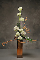Elegant flower arrangement created by floral artist Tomasi Boselawa