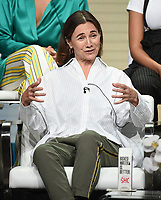 "BEVERLY HILLS - AUGUST 2: Executive Producer Ilene Chaiken onstage during the ""The L Word: Generation Q"" panel at the Showtime portion of the Summer 2019 TCA Press Tour at the Beverly Hilton on August 2, 2019 in Los Angeles, California. (Photo by Frank Micelotta/PictureGroup)"