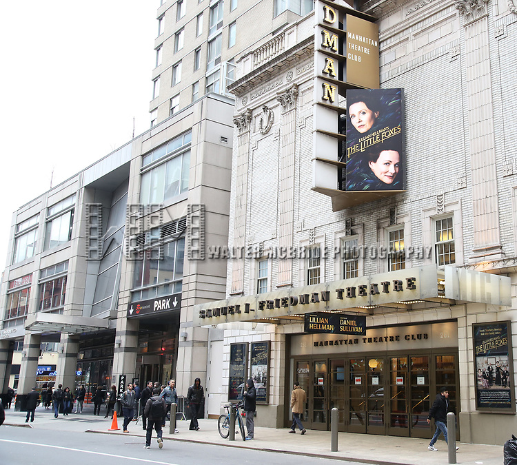 "Theatre Marquee unveiling for ""The Little Foxes"" starring Laura Linney and Cynthia Nixon at the Samuel J. Friedman Theatre on 3/31/2017 in New York City."