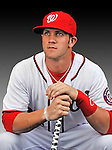 25 February 2011: Washington Nationals' first round draft pick for 2010, outfielder Bryce Harper poses for his Photo Day portrait at Space Coast Stadium in Viera, Florida. Mandatory Credit: Ed Wolfstein Photo