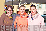 Margaret Horgan Brosna, Katie Walsh and Orla O'Shea Cordal looking fit at the Castleisland Good Friday walk in aid of the Kerry Hospice Foundation.