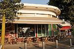 Israel, Tel Aviv. the Bauhaus style building at the corner of Alenbi and Bialik streets