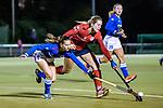 Ruesselsheim, Germany, October 11: During the 1. Hockey Bundesliga women match between Ruesselsheimer RK and Mannheimer HC on October 11, 2019 at Ruesselsheimer RK in Ruesselsheim, Germany. Final score 1-3. (Copyright Dirk Markgraf / 265-images.com) *** Clara Badia Bogner #9 of Mannheimer HC