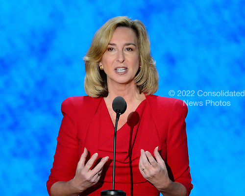 Former Lieutenant Governor Kerry Healey (Republican of Massachusetts) makes remarks at the 2012 Republican National Convention in Tampa Bay, Florida on Thursday, August 30, 2012.  .Credit: Ron Sachs / CNP.(RESTRICTION: NO New York or New Jersey Newspapers or newspapers within a 75 mile radius of New York City)