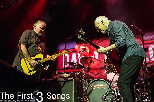 Peter Frampton and David Hidalgo of Los Lobos performs during the Frampton's Guitar Circus at Riverbend Music Center in Cincinnati, Ohio.
