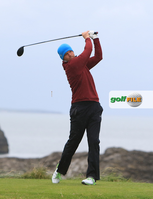 Brian Slattery (Ballybunion) on the 4th tee during the Munster Final of the AIG Junior Cup at Tralee Golf Club, Tralee, Co Kerry. 13/08/2017<br /> Picture: Golffile | Thos Caffrey<br /> <br /> <br /> All photo usage must carry mandatory copyright credit     (&copy; Golffile | Thos Caffrey)