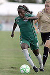 26 July 2009: Eniola Aluko (9) of Saint Louis Athletica moves the ball ahead of Leigh Ann Robinson (7) of FC Gold Pride.  Saint Louis Athletica tied the visiting FC Gold Pride 1-1 in a regular season Women's Professional Soccer game at Anheuser-Busch Soccer Park, in Fenton, MO.