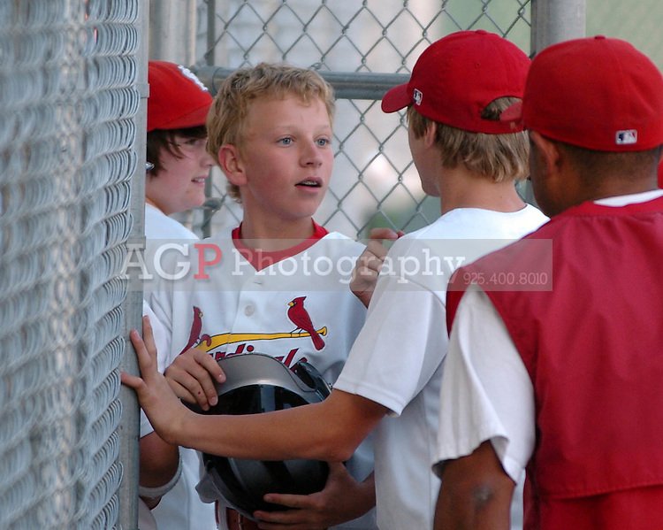 The Pleasanton National Little League Major Cardinals play against the Diamondbacks in game one of the playoffs in Pleasanton, California June 10, 2009..