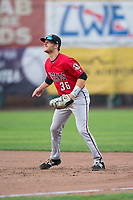 Billings Mustangs first baseman Jay Schuyler (36) during a Pioneer League game against the Ogden Raptors at Lindquist Field on August 17, 2018 in Ogden, Utah. The Billings Mustangs defeated the Ogden Raptors by a score of 6-3. (Zachary Lucy/Four Seam Images)