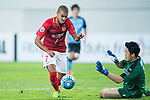 Guangzhou Forward Alan Douglas De Carvalho (L) attempts a kick while being defended by Kawasaki Goalkeeper Jung Sungryong (R) during the AFC Champions League 2017 Group G match between Guangzhou Evergrande FC (CHN) vs Kawasaki Frontale (JPN) at the Tianhe Stadium on 14 March 2017 in Guangzhou, China. Photo by Marcio Rodrigo Machado / Power Sport Images