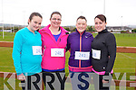 Lisa Kelliher, Laura Kelliher, Louise O'Connor, Channelle Hurley at the Home to Rome 5k Fun Run at Castleisland Rugby club on Sunday
