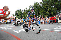 Alberto Contador during the stage of La Vuelta 2012 between Cambados and Pontevedra.Individual Time Trials.August 29,2012. (ALTERPHOTOS/Paola Otero) /Nortephoto.com<br />