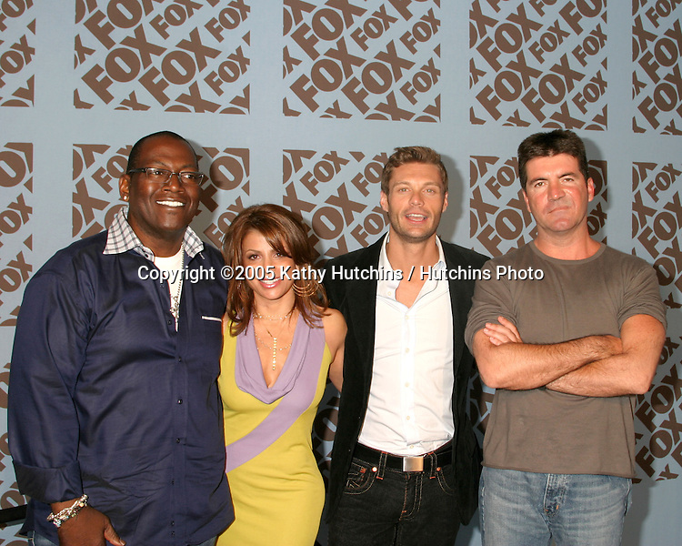 American Idol Judges and Host.Fox TV Upfronts.Boathouse at Central Park.New York City, NY.May 19, 2005.©2005 Kathy Hutchins / Hutchins Photo...