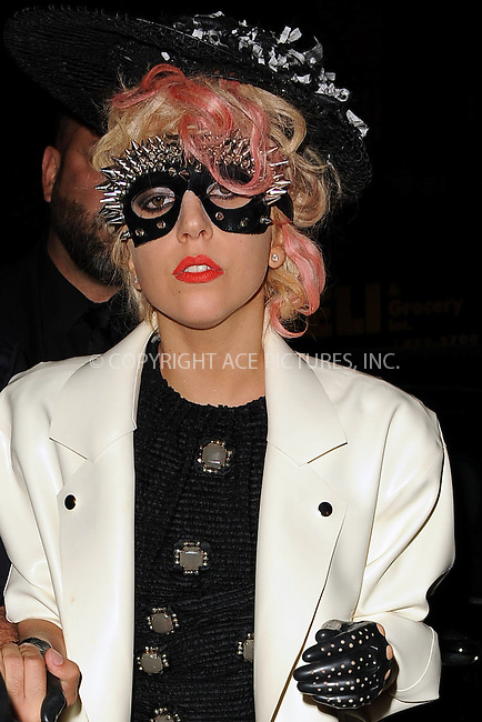 WWW.ACEPIXS.COM . . . . . ....September 14 2009, New York City....Singer Lady Gaga arriving at Marc Jacobs Spring 2010 show on September 14 2009 in New York City....Please byline: KRISTIN CALLAHAN - ACEPIXS.COM.. . . . . . ..Ace Pictures, Inc:  ..tel: (212) 243 8787 or (646) 769 0430..e-mail: info@acepixs.com..web: http://www.acepixs.com