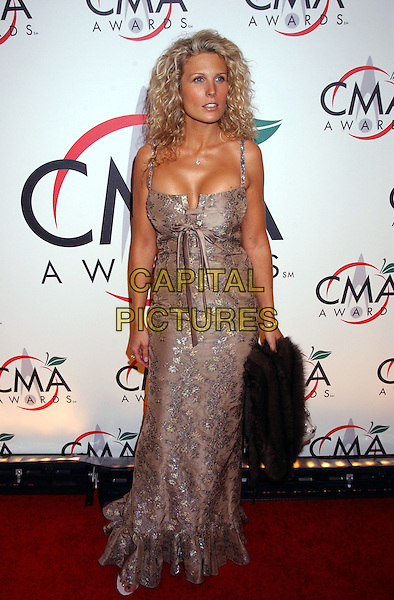 JOEY DANIELS.The 39th Annual CMA Country Music Awards held at Madison Square Garden, New York, NY .November 15th, 2005.Photo by: Laura Farr/AdMedia/Capital Pictures.Ref: LF/ADM.full length beige silver dress.www.capitalpictures.com.sales@capitalpictures.com.© Capital Pictures.
