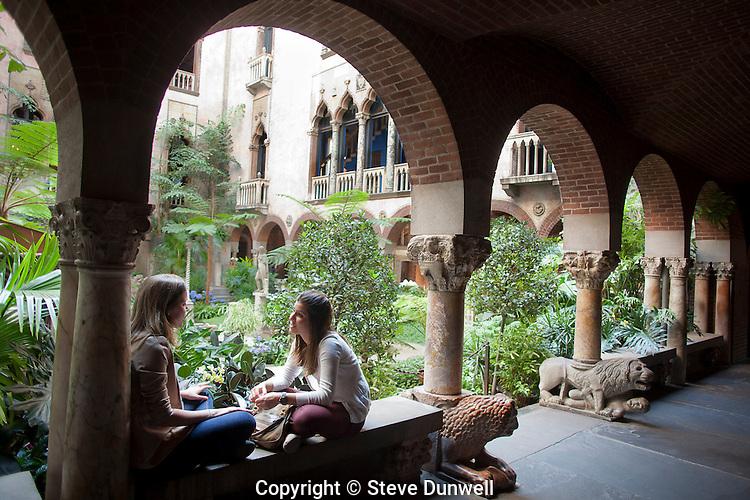 Courtyard at Isabella Stewart Gardner Museum, Boston, MA