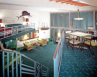 Jolly Roger Motel, Wildwood, NJ. Two story lobby. 1960's
