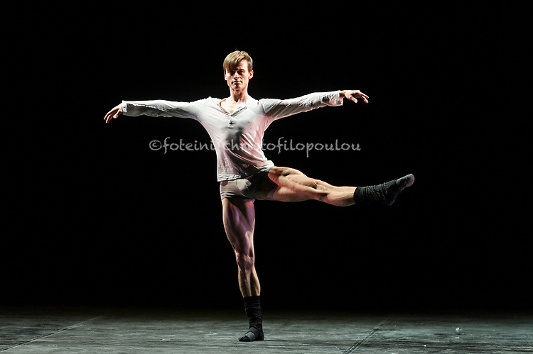 London, UK. 22.11.2017. 'Men in Motion' Ivan Putrov's celebration of the male dancer returns to the London Coliseum, 22-23 Nov 2017. Photo shows: Marian Walter in 'Berlin' by Ludovic Ondiviela. Photo - © Foteini Christofilopoulou.