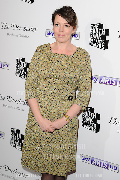 Olivia Colman arrives for the South Bank Sky Arts Awards 2014 at the Dorchester Hotel, London. 27/01/2013 Picture by: Steve Vas / Featureflash