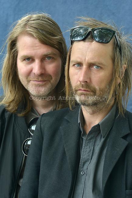Erik Axl Sund, Swedish writers in 2014.<br /> From left to right: Jerker Eriksson and Hakan Axlander Sundquist