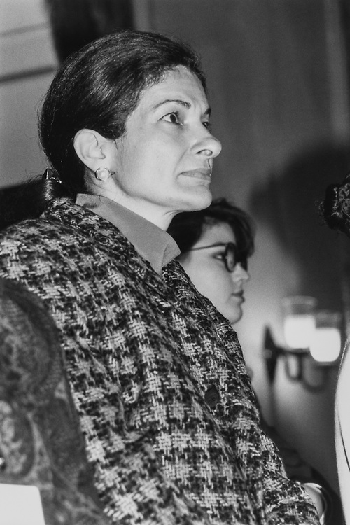 Close-up of Rep. Olympia Snowe, R-Maine, in February 1991. (Photo by Maureen Keating/CQ Roll Call via Getty Images)