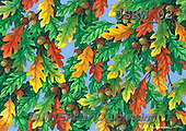 Randy, STILL LIFE STILLLEBEN, NATURALEZA MORTA, paintings+++++Acorn-Oak-Leaf-pattern,USRW02,#i#
