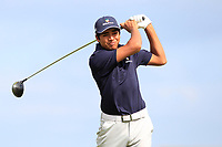 Yurav Premlall (RSA) on the 9th tee during Round 2 of The East of Ireland Amateur Open Championship in Co. Louth Golf Club, Baltray on Sunday 2nd June 2019.<br /> <br /> Picture:  Thos Caffrey / www.golffile.ie<br /> <br /> All photos usage must carry mandatory copyright credit (© Golffile   Thos Caffrey)