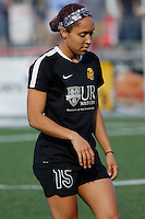 Rochester, NY - Saturday June 11, 2016: Western New York Flash defender Jaelene Hinkle (15) during a regular season National Women's Soccer League (NWSL) match between the Western New York Flash and the Orlando Pride at Rochester Rhinos Stadium.