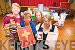 Mary McAuliffe, Peg O'Donoghue, Betty Canty and Bridget Scanlon preparing for the Christmas Craft Fair in Knocknagoshel.