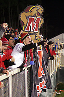 Maryland fans celebrate their victory and look forward to Sunday's final. The University of Maryland defeated Southern Methodist University 4-1 in the NCAA Semifinal at SAS Stadium in Cary, North Carolina, Friday, December 9, 2005.