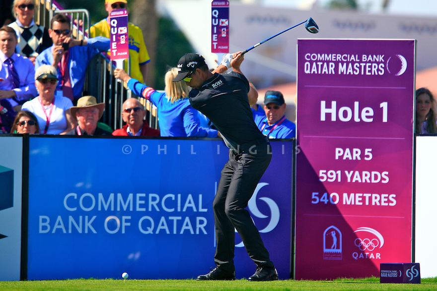 Henrik Stenson (SWE) in action during the final round of the Commercial Bank Qatar Masters played at Doha Golf Club, Doha, Qatar. 21-24 January 2015 (Picture Credit / Phil Inglis)