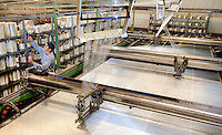 Manufacturing operations at SAERTEX USA in Huntersville, NC. SAERTEX  Group produces multiaxial NCF non-crimp fabrics designed to optimally absorb such mechanical forces as pressure and tension. SAERTEX fabrics are unidirectional, bidirectional and multiaxial stitch bonded construction. SAERTEX fabrics are used in automobile and aviation industries, in shipbuilding, aviation, sports and recreation.